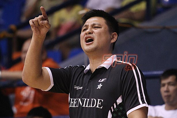 Richard del Rosario's belief in the triangle offense has been steadfast. Photo by Jerome Ascano