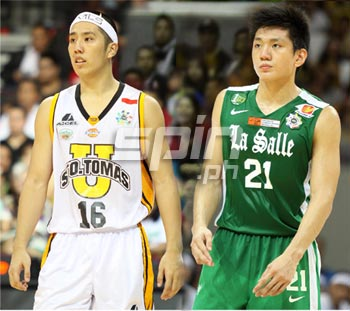 Jeron Teng, right, scored more points but it was UST's Jeric who walked away with the win. Photo by Jerome Ascano