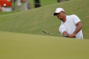 Tiger Woods says he has played paspalum greens just once. AP