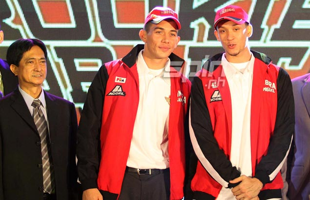 Keith Jensen is picked eighth overall and joins Chris Ellis at Barangay Ginebra. Both picks were greeted with loud cheers from the 'Barangay.'  Jerome Ascano