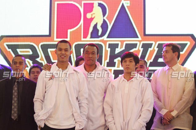 Second pick Calvin Abueva shares the Alaska stage with 19th selection Raphy Reyes and Karl Dehesa, tabbed 22nd.Jerome Ascano