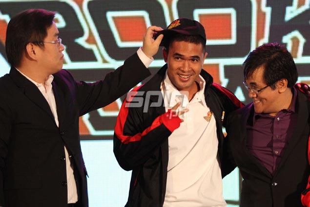 It was getting late but JosephHermosisima had reason to smile after being picked at 31st overall by Barako Bull.Jerome Ascano