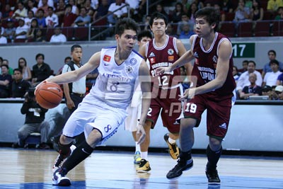 Nico Salva and the Eagles narrowly beat UP and coach Norman Black wasn't pleased. Photo by Jerome Ascano