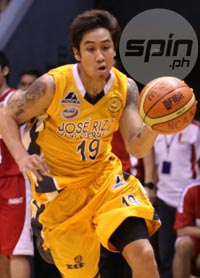 JRU's Nate Matute has struggled against San Beda for the second time this season. Photo by Jerome Ascano