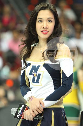 Steph Sy enjoys being a cheerleader, even if it's just once a year. Photo by Jerome Ascano