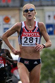 Paula Radcliffe holds four of the five fastest times in the history of women's marathon. Photo from paularadcliffe.com