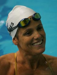 Dara Torres is the first and only swimmer from the US to compete in five Olympic Games. Photo from facebook.com/OfficialDaraTorres