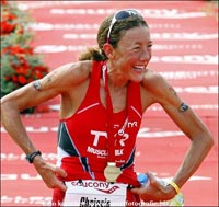 Chrissie Wellington has gone undefeated in thirteen Ironman distance races. Photo from chrissiewellington.org