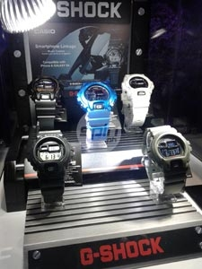 Bluetooth G-Shock models to be released this year will have the ability to connect with smartphones.