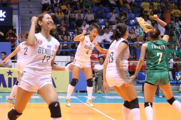 St. Benilde Lady Blazers topple thrice-to-beat San Sebastian to claim first NCAA women's volleyball title