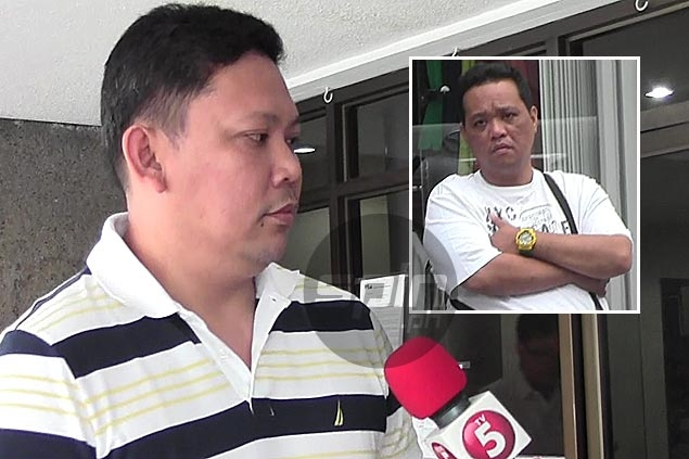 Cagayan Valley team manager Frederick Collado says team staffer Bernard Santos (inset) was merely cheering for their team and his action was not ... - Cagayan-Valley-013014