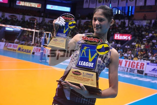 National University star Dindin Santiago bags second V-League MVP award