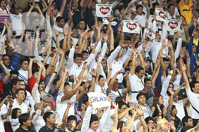 Gilas Pilipinas gets a huge lift from the home crowd, which observers and even the national players consider as the team's 'sixth man.' Jerome Ascano