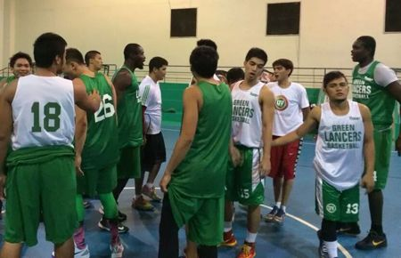 The University of the Visayas Green Lancers prepare for their title defense.