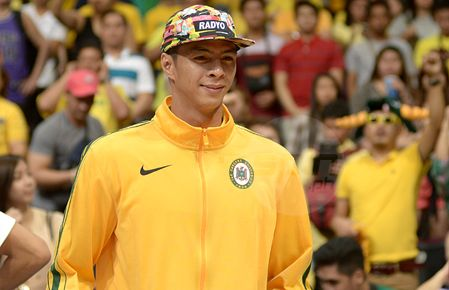 Former FEU star Arwind Santos shows up for Game Two. Jaime Campos