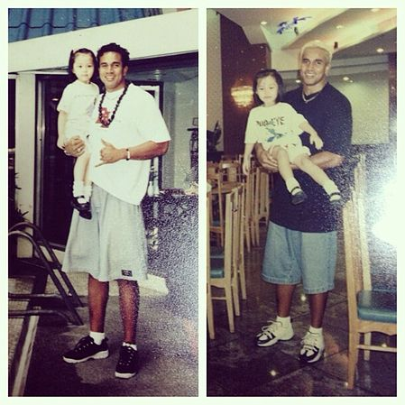 Asi Taulava with the daughter of Blu owner Dioceldo Sy.