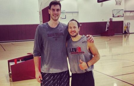 Cody Toppert, right, says he likes Gilas' speed and excellent ball movement. Photo from Tobbert's Twitter account