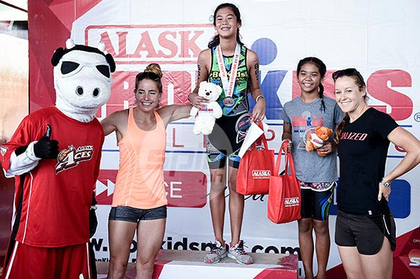 New face Gene Heart Quiambao finished first among the girls' 11-12 age group. Jaime T. Campos