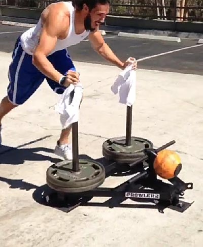 Jared Dillinger doing his rehab workout.