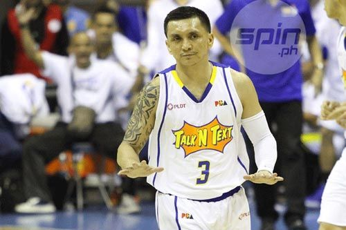 Jimmy Alapag could end his career with a hat-trick of 3-point shootout titles. Jerome Ascano