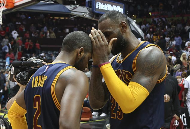 Cavs could be inclined to begin another rebuild around LeBron James as Kyrie Irving seeks trade