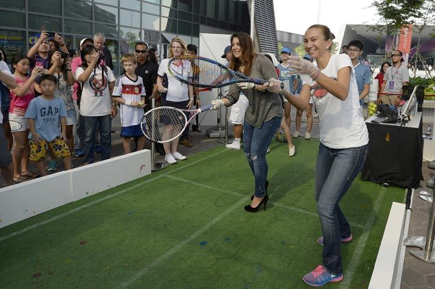 Interactive tennis-themed activities and star-studded appearances await at the Fan Zone.