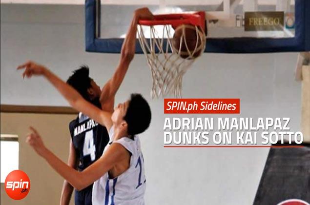 SPIN.ph Sidelines: Adrian Manlapaz dunks on Kai Sotto
