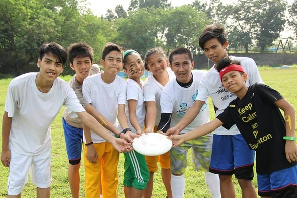 Some members of the Maynilad Ultimate Water Warriors.