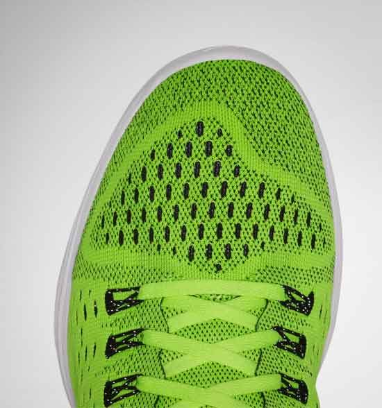 The Lunarlon Tempo upper has breathable Flymesh and lockdown Flywire cables