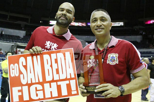 Benjie Paras and Ronnie Magsanoc, two former San Beda Red Cubs ...