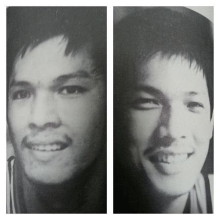 Noel (left) and Joel Guzman played for San Beda in college before making the jump to the pro ranks in 1982. Photo from PBA Annual