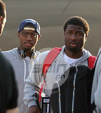 Paul George and Solomon Hill. Photo by Jerome Ascano