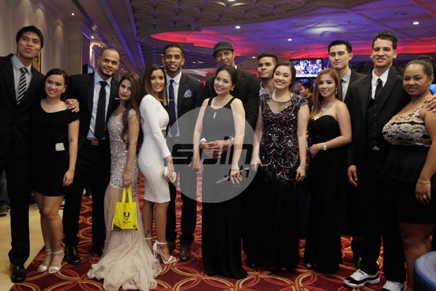 PBA players, coaches, officials and their wives came in their Sunday