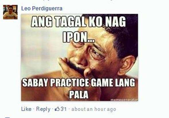 A lot of folks present at the Araneta Coliseum could relate to this.