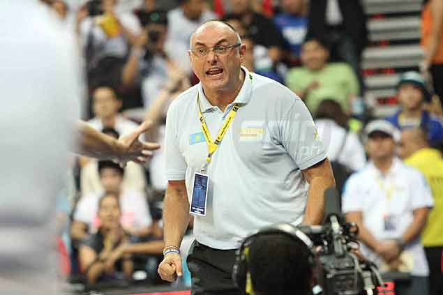 The Kazakhstan team's Italian coach Matteo Bonicciolli was not pleased to see his squad get waylaid, but later says it is a great learning experience. Jerome Ascano