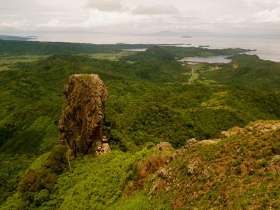 View from the Summit shows the Monolith, the Batangas Coast and Manila Bay. Merrell