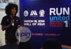 RunRio race director Rio dela Cruz describes the race route for RUN United 1.