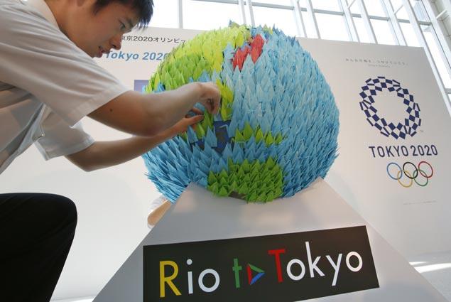 Japanese school children help start four-year countdown to Tokyo Olympics