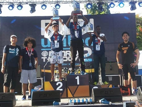 Running coach John Philip Duenas came in second after Kenyan Eliud Kering. Third place went to Philip Ronoh. (photo courtesy of Mary Joy Tabal)