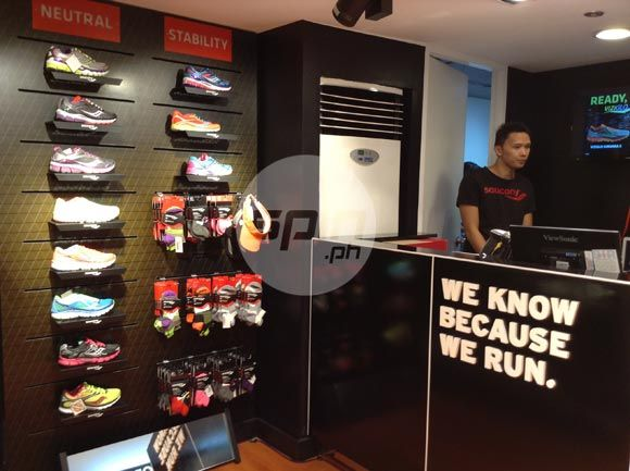 The Saucony Concept Store is located at the 2F of Glorietta 2