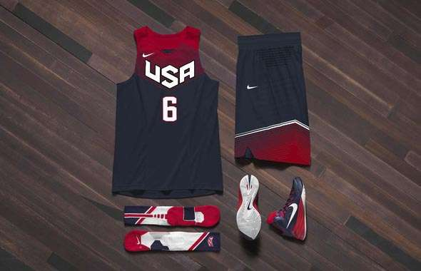 nike unveils 39 lightest uniforms ever 39 for team usa ahead. Black Bedroom Furniture Sets. Home Design Ideas