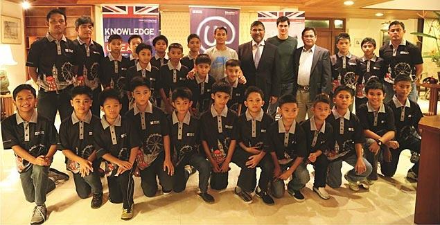 Philippine U-11 boys football team off to UK