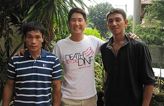 Bobby with his support team, Rey and Jilbert