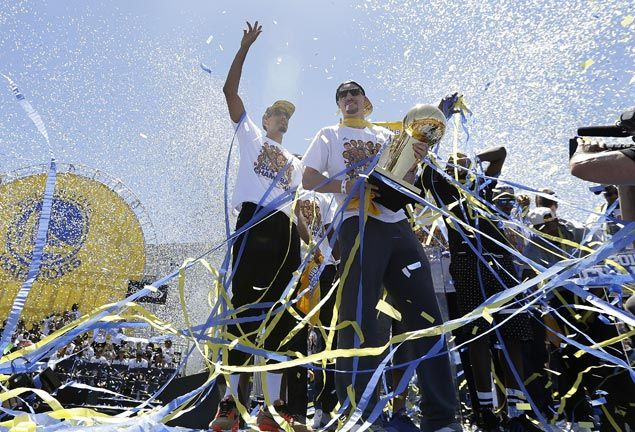 The Warriors and fans bask in glory of the team's first NBA title in four decades. AP