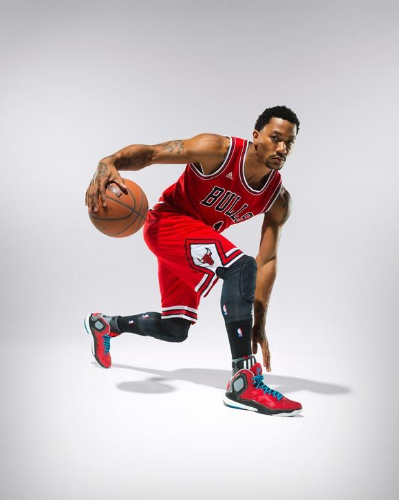 Derrick Rose in the D Rose 5 Boost 'Brenda' colorway