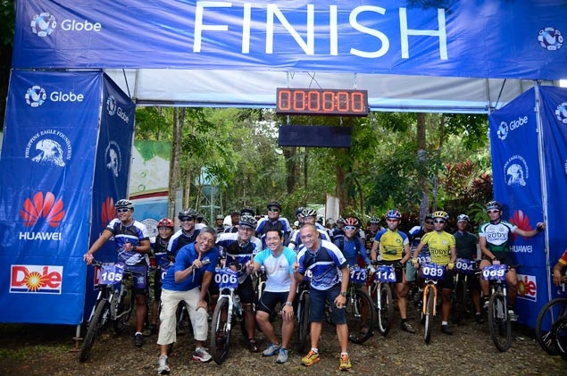 Mountain bikers take on unique off-road challenge to help save the Philippine Eagle