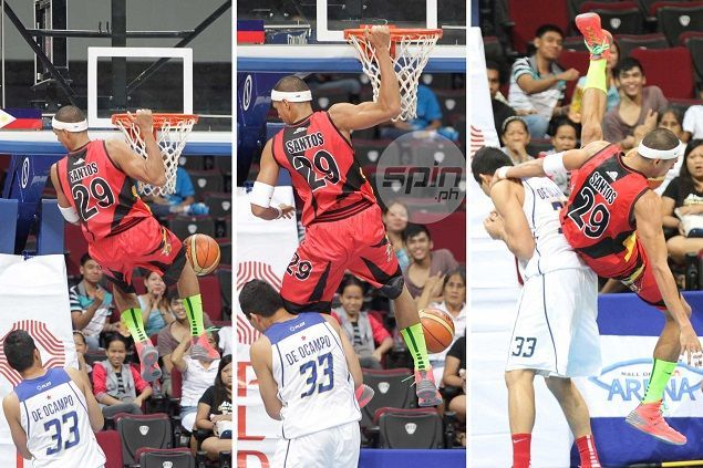 Here is the 'sahod' incident that nearly triggered a fight between SMB's Arwind Santos and Ranidel de Ocampo. Jerome Ascano