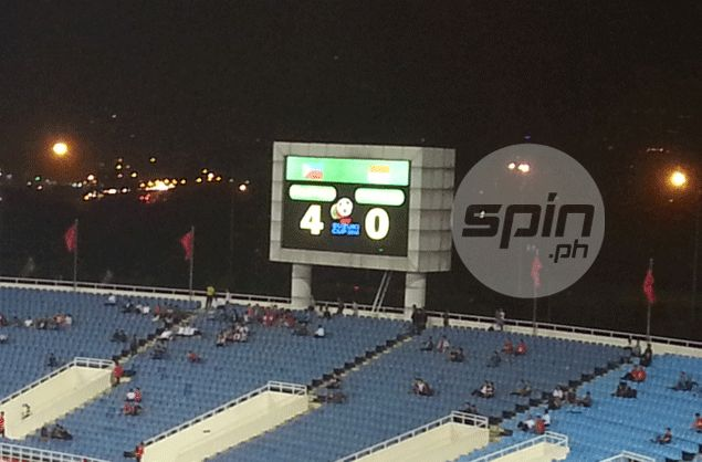 The scoreboard reflects the lopsided manner in which the Azkals picked apart the Indonesians. Karlo Sacamos
