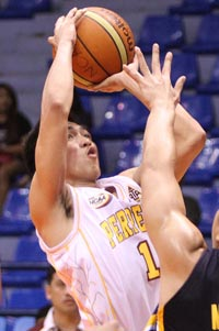 Juneric Baloria is expected to provide a scoring punch for the Altas this season. Photo by Jerome Ascano