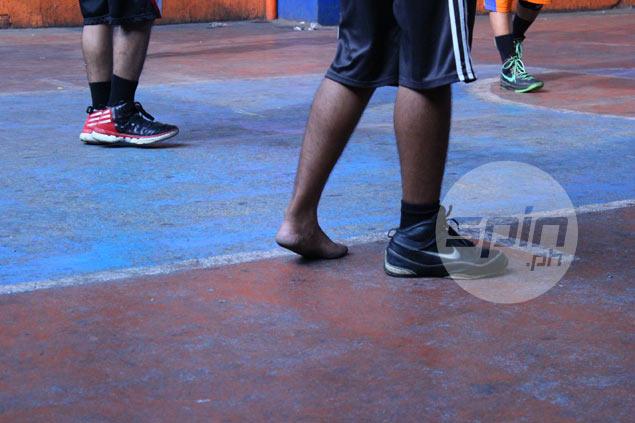 Shoeless Joe? Around here it's One-shoe Joe. Pictures by Bernadette Rivera